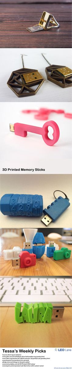 Tessa's Weekly Picks – 3D Printed Memory Sticks