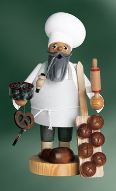 KWO Bread Baker German Incense Smoker for sale online German Christmas Pyramid, German Christmas Markets, German Christmas Decorations, Christmas Ornaments, German Nutcrackers, Holiday Storage, Baker Cake, Nutcracker Christmas, Shops