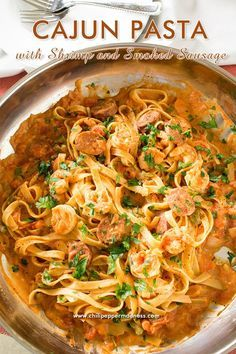 Cajun Pasta with Shrimp and Smoked Sausage - Love jambalaya? This recipe brings all of your favorite jambalaya flavors and transforms them into a tasty pasta dish.