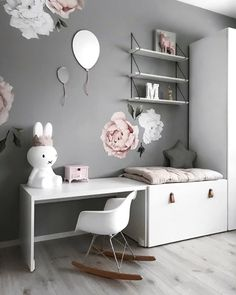 How pretty is this little girl's room by @stine.moi Shop Miffy lamp via the link in our bio . #kidsroom #kidsdecor #kidsroomdecor #kidsroominspo #nordichome #nordicinspiration