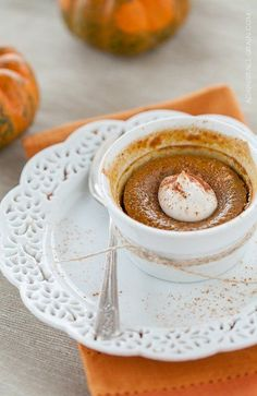 When you have had more than your fill of Thanksgiving dinner, sometimes you can feel as if there's no room left for dessert, which of course would be a cryin' shame.  This light pumpkin custard is a sweet culmination to any Thanksgiving feast, but without the heaviness of a buttery crust. And, because you're saving...  Read more »