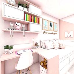 New decoration! Small comfortable and modern small room 💞 ——- New decoration ! Small comfortable and modern simple room 💞 interior . - My Website 2020 Cute Bedroom Ideas, Cute Room Decor, Girl Bedroom Designs, Home Room Design, Small Room Design, Kids Room Design, Small Room Bedroom, Bedroom Decor, Small Apartment Bedrooms