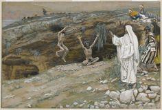 The Two Men Possessed with Devils (Les deux démoniaques) : James Tissot : Free Download & Streaming : Internet Archive