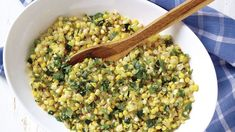 Corn, Sweet Onion & Zucchini Sauté with Fresh Mint - Recipe - FineCooking Cilantro Recipes, Mint Recipes, Corn Recipes, Gf Recipes, Summer Recipes, Vegetarian Recipes, Cooking Recipes, Healthy Cooking, Healthy Eating