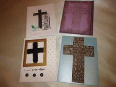 A Set of 4 Christian Easter Cards Cross Nails by cards4ubylouise, $8.50