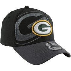 New Era Green Bay Packers 39THIRTY Classic Flex Hat - Black e53090bc7