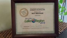 Best Massage. Best of the Lakes Region 2013.