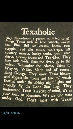 Texaholic Shirt! :)