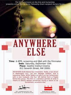 Film Screening: Anywhere Else | Saturday, Sept 15, 6-8pm #dcarts #dcevents