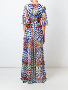 Dolce & Gabbana Vestido Longo De Seda Estampado - Dolce & Gabbana - Farfetch.com                                                                                                                                                                                 Mais