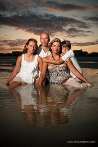 Family Beach Portraits At The End Of Session