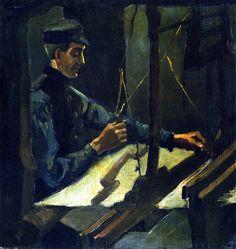 The Athenaeum - TOULOUSE-LAUTREC, Henri de French Post-Impressionist (1864-1901)_The Weaver - 1884