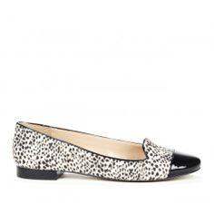 Janae cap toe loafer - Black Crema