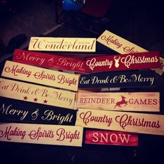 Two Queen Bees Studio. Puyallup, Wa.  #Silhouette #holiday signs #Christmas