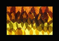 Stained Glass Leaf Art