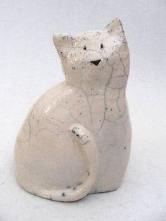 cat, raku fired
