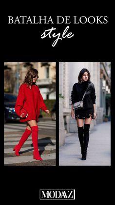 Botas over the knee são as queridinhas do inverno! #modaazoficial #botaovertheknee #style #batalhadelook #winter #botas Looks Style, Photo And Video, Videos, Instagram, Battle, Winter Time, Boots