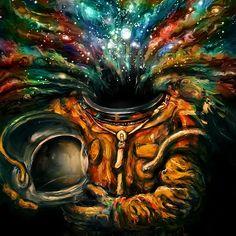 Canvas Wall Art by Nicebleed Canvas Art Prints, Canvas Wall Art, Abstract Canvas, Psy Art, Kunst Poster, Scary Art, Visionary Art, Moon Art, Poster Making