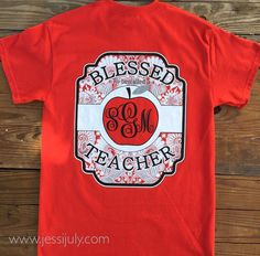 """""""A teacher takes a hand, opens a mind, and touches a heart!"""" Here at Jessi July, we love our teachers! These """"Blessed to be called a Teacher"""" tees are perfect for a gift! They come in a variety of colors and are also offered on long-sleeves! This design is available online at www.jessijuly.com or at our retail location in the Valdosta, Ga mall!"""