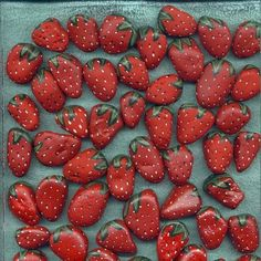 Painted strawberry rocks in your berry patch chase the birds away from your real ones. They hate pecking on stones and assume all are hard.  Via 4outof7 food, gardening, housing and thriving on FB
