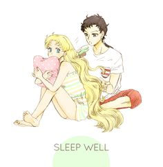 Sailor Moon. As much as I don't like Usagi x Seiya, this picture is adorable.