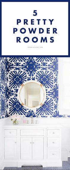 5 of the prettiest powder rooms