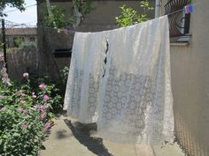 ecru french lace curtains