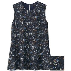 UNIQLO Georgette Printed Sleeveless Blouse ($13) ❤ liked on Polyvore featuring tops, blouses, georgette tops, flower print blouse, floral sleeveless blouse, floral tops and uniqlo
