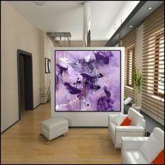 """Acryl on Canvas """"floating"""" 90 X 90 cm Artist Paul de groot"""