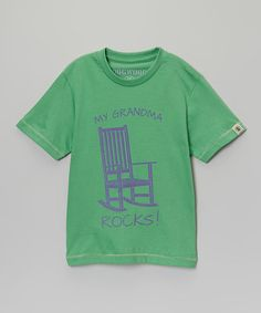 Another great find on #zulily! Green 'My Grandma Rocks' Tee - Infant, Toddler & Boys #zulilyfinds