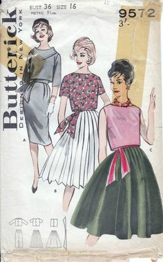 42 Best Vintage Butterick patterns images in 2017 | Dress