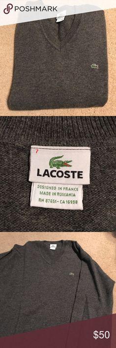 d403b90dc0 Men's Lacoste sweater Men's gray Lacoste sweater. Amazing condition looks  brand new. Super soft