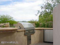 Grill built into patio - 6631 E BENT TREE Drive, Scottsdale, AZ, 85266