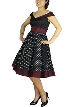 http://www.mysticcrypt.com/plus-size-black-and-burgundy-polka-dot-retro-rockabilly-dress-p-2375.html