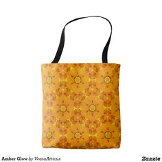 Amber Glow tote bag. A soft glowing amber pattern with a vintage vibe