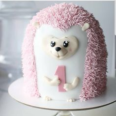 Pink hedgehog by its so cute ! i love hers creations YES OR NO? Pink hedgehog by its so cute ! i love hers creations Hedgehog Cupcake, Sonic The Hedgehog Cake, Hedgehog Birthday, Flamingo Party, Cadbury Chocolate Buttons, Peace Cake, Diva Cakes, Cake Lettering, 18th Cake