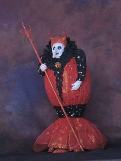 Halloween Witch Art Doll, by Charles Batte, via Etsy.