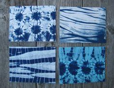 Indigo Shibori Fabric Notecards by CapeCodShibori