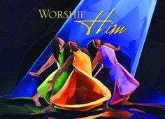 worship him african american christmas card box set of 15 by african american expressions worship dancepraise - Christmas Praise Dance