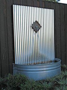 Edelstahl Gartenbrunnen Ideen Recyceln Materialien