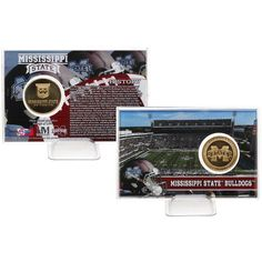 Mississippi State Bulldogs Collectible 4'' x 6'' Football Coin Card - $19.99