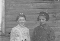 Lodz, Poland, Two girls in the ghetto. Belongs to collection: Yad Vashem Photo Archive