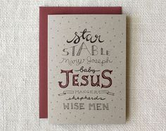 Wit & Whistle » typographic nativity card