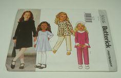 Butterick Children's/Girls' Top Dress And Pants