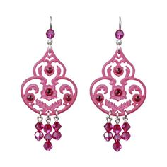 TARINA TARANTINO Iconic Lucite And Crystal Drop Earring ($63) ❤ liked on Polyvore featuring jewelry, earrings, accessories, crystal chandelier earrings, chandelier drop earrings, crystal earrings, drop earrings and beaded earrings