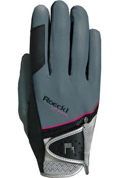 Roeckl Grey and Pink Madrid Riding Glove - 7