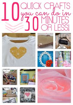10 Easy Craft Ideas You Can Make in 30 Minutes or Less - The Bold Abode