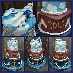 Graduation cake Navy/Magnolia High School and pilot