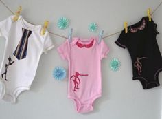 Pinocchio Fabric Silhouette Baby Onesie (Pink & Pink) 3-6 mo http://www.ezebee.com/anhandmade-designs/shop