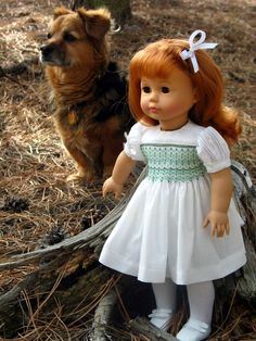 Doll Clothes Patterns - Helen Dress for 18 Inch American Girl Dolls   Pay pattern